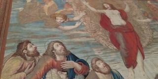 Details van het Leven van Christus bij Galerij van het Tapijtwerk in het Museum van Vatikaan stock foto