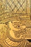 Details van het Thaise reuze schilderen in traditionele stijl. Royalty-vrije Stock Foto's