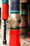 Details van Hundertwasserhaus Wien stock foto's