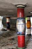 Details van Hundertwasserhaus Wien Stock Foto