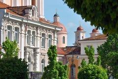Details van Kerk van St Casimir in Vilnius stock foto