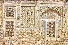 Details van marmeren inlegsel. Stock Afbeeldingen