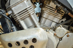 Details van motocyclemotor, close-up Stock Foto