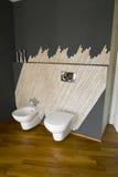 Details van opgeschorte witte sanitaire waren Stock Foto's