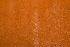 Details van oranje leer stock fotografie