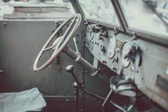 Details van oude legerjeep Stock Foto