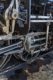 Details van oude stoomlocomotief stock afbeeldingen