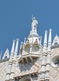 Details van palazzo Ducale, Venetië, het Italië-Sluiten omhoog stock foto's