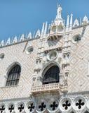 Details van palazzo Ducale, Venetië, het Italië-Sluiten omhoog stock afbeelding