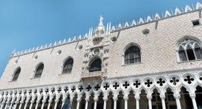 Details van palazzo Ducale, Venetië, het Italië-Sluiten omhoog stock foto