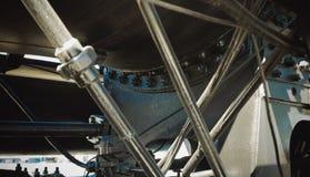 Details van Poolse stoomlocomotief stock afbeelding