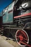 Details van Poolse stoomlocomotief royalty-vrije stock afbeelding