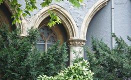 Details van Vajdahunyad-Kasteel, mooie architectuur, Boedapest, Hongarije royalty-vrije stock fotografie