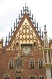 Details van Wroclaw stadhuis vooraanzicht Stock Foto's