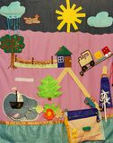 Details van zachte creatieve mat voor ontwikkeling van kind Stock Foto's