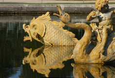 Details of Versailles Neptune fountain Stock Photography