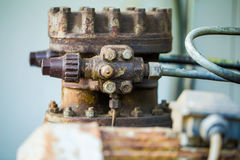 details of a very old tractor, mechanical parts Stock Photography