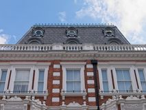 Details of Victorian townhouse exterior in London royalty free stock images
