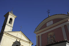Details of the village of Barolo. In the Langhe Stock Photography