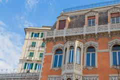 Details of vintage palaces in the center of Genoa, Italy. Details of vintage palaces in the center of Genoa Genova , Italy Royalty Free Stock Image