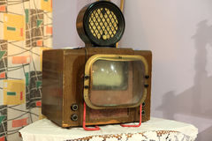 Details of vintage TV Stock Photo