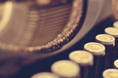 Details of vintage typewriter Stock Photography