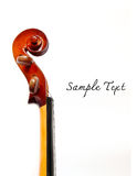 Details of violin head isolated Stock Photos