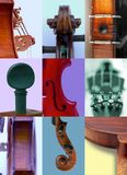Details of violins Royalty Free Stock Photos