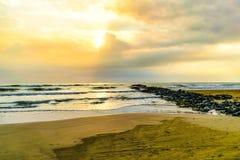 Mexican Beach Scene stock photo