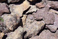 Details of volcanic tufa rhyolite rocks Royalty Free Stock Photography