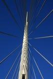 Details von Ada-Brücke ragen in Belgrad, Serbien hoch Stockbilder