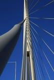 Details von Ada-Brücke ragen in Belgrad, Serbien hoch Stockfoto