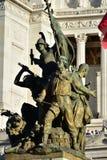 Details von Altair des Vaterlands, Rom Italien Stockbild