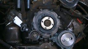 Details von alten Maschinenmaschinen stock video footage