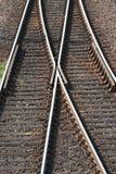 Details von Bahnlinien Stockbild