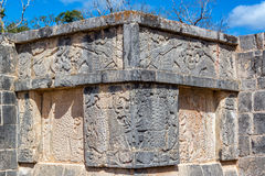 Details von Carvings in Chichen Itza Lizenzfreies Stockfoto