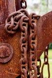 Details von rostigen Ketten lizenzfreies stockbild