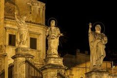 Details von San Pietro Church Facade in Modica lizenzfreie stockfotografie