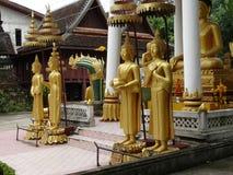 Details von schönen Künsten am buddhistischen Tempel Lizenzfreies Stockbild
