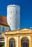 Details von Stift Melk, eine Benediktinerabtei über der Stadt von Melk in Österreich Lizenzfreies Stockfoto