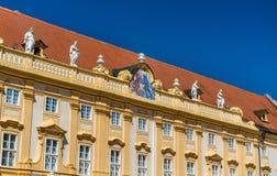 Details von Stift Melk, eine Benediktinerabtei in der Stadt von Melk in Österreich Stockfotografie