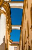 Details von Stift Melk, eine Benediktinerabtei in der Stadt von Melk in Österreich Stockfotos