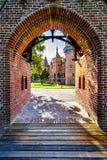 Details von Toren bei Castle De Haar, ein Schlosswiederaufbauen des 14. Jahrhunderts im Ende des 19. Jahrhunderts lizenzfreies stockfoto