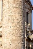 Details von Trajans Spalte Stockbild