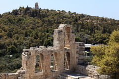 Details of wall of Odeon of Herodes Atticus Royalty Free Stock Images