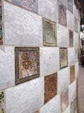 Details of Wall in Park Guell, Barcelona, Spain Royalty Free Stock Photos