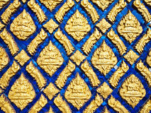 Details of wall of temple in Thailand (horizontal) Royalty Free Stock Image