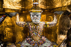Details of Wat Phra Kaew, Temple of the Emerald Buddha Royalty Free Stock Photo