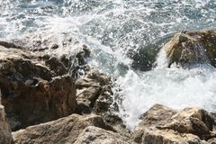 Details of water in Villefrance sur le mer, France Royalty Free Stock Photo