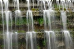 Details of waterfalls with long exposure. royalty free stock photography